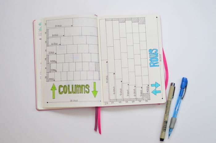 How to Space Rows and Columns Evenly in Leuchtturm 1917 A5 bullet journal