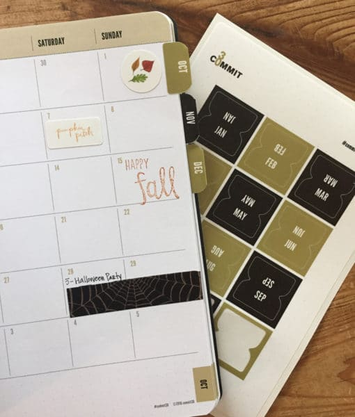 Monthly Tabs for your Bullet Journal