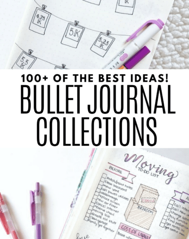 Huge list of the best bullet journal collections and lists
