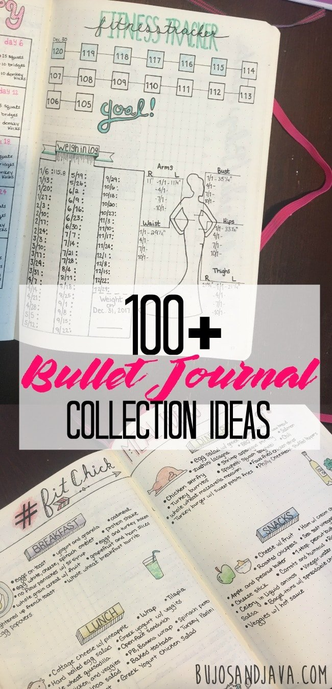 Massive List Of Bullet Journal Collection Ideas The Petite Planner