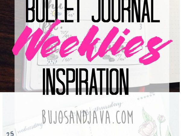 Bullet Journal Weeklies Inspiration