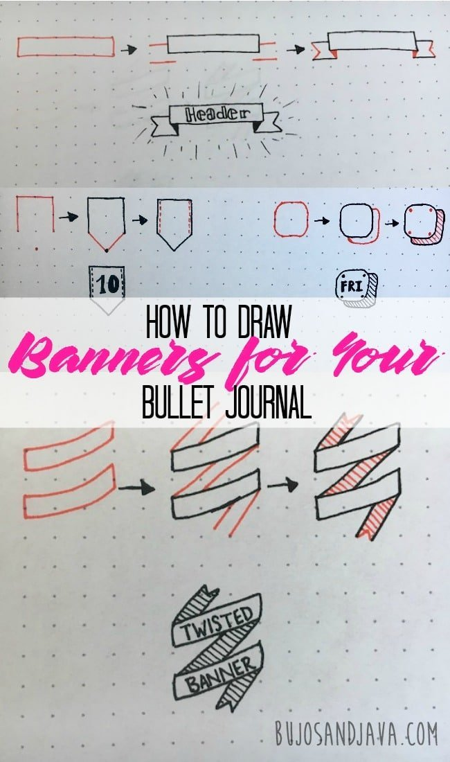 How To Draw Banners For Your Bullet Journal