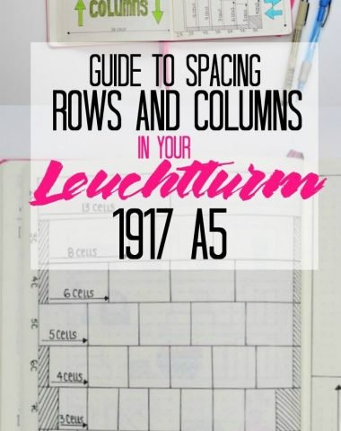 The How To Guide to Spacing Rows and Columns in your Leuchtturm 1917 A5 Bullet Journal. Great resource for making weekly and monthly spreads as well as trackers and collections