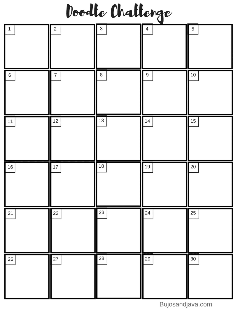 photo regarding 30 Day Challenge Printable known as March Doodle Dilemma with Totally free Printable - The Pee Planner