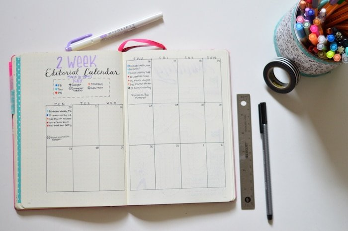 Dot Calendar Bullet Journal : How to organize your with a bullet journal the