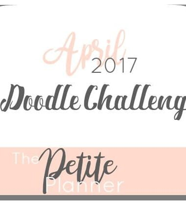 April 2017 Doodle Challenge. A doodle challenge on Instagram for journalers