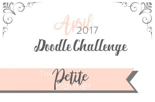 April 2017 Doodle Challenge. A doodle challenge on Instagram for journalers