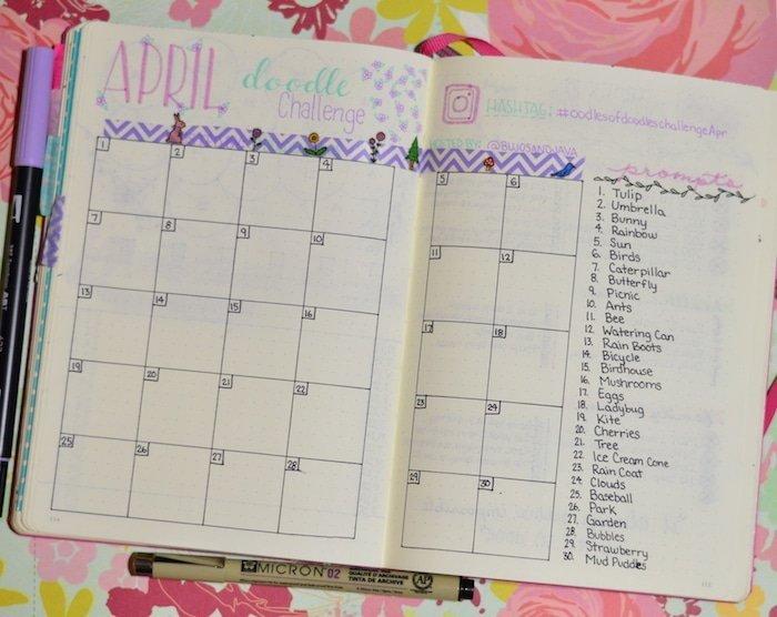 April Doodle Challenge Setup