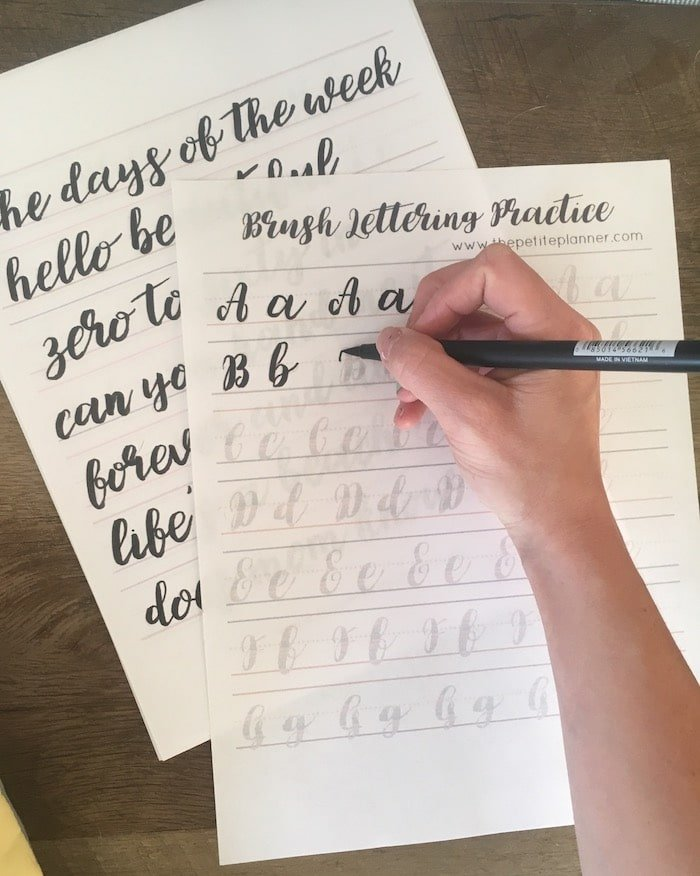 Learn how to do brush lettering in 30 days