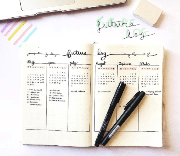 Vertical Future log layout