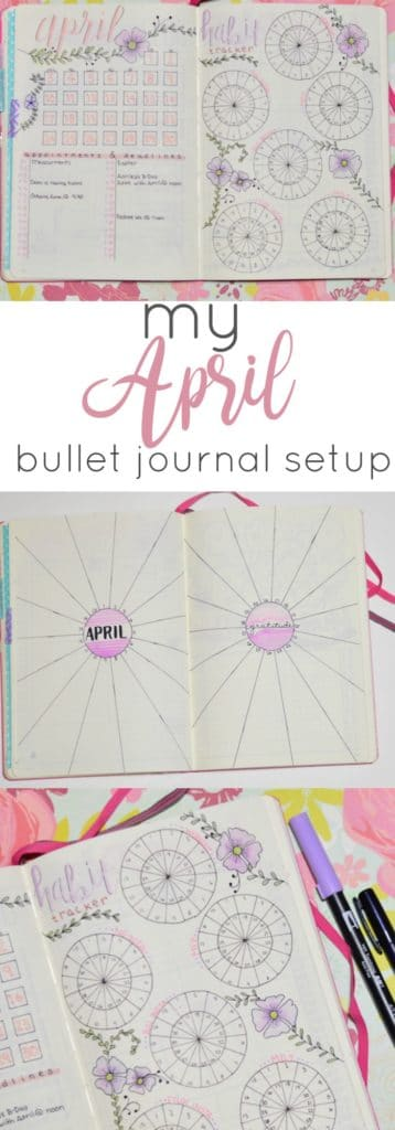 My April Setup in My Bullet Journal: I made a lot of changes this month, and I think they were for the best. From my habit tracker to my month-at-a-glance and mood tracker, this setup feels right.