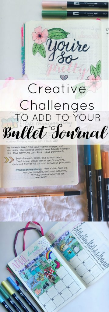 Join any of these fun bullet journal challenges this coming month to boost your creativity and add a little fun to your monthly spread. Doodle, practice your hand lettering, or do some creative writing. Great for art journals as well.