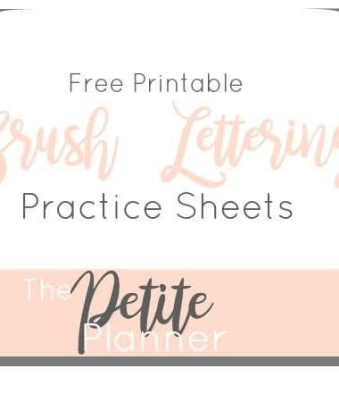 Free Printable Brush Lettering Practice Sheets