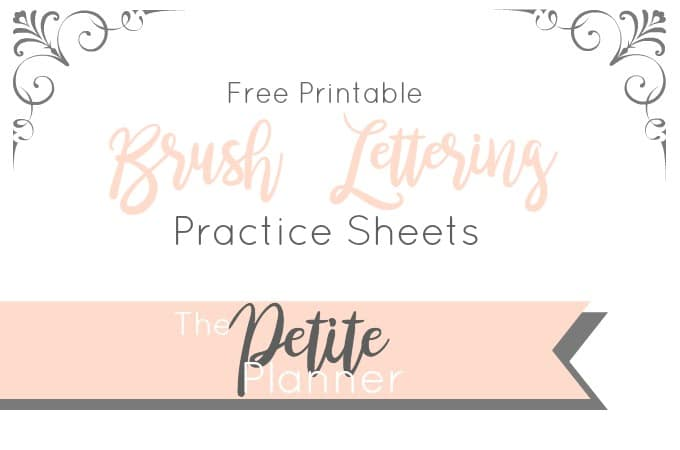 Learn Brush Lettering with These Free Practice Sheets - The Petite ...