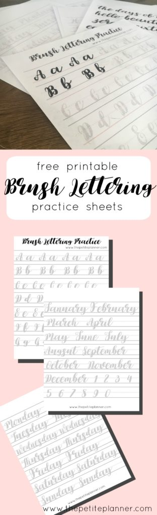 picture relating to Brush Lettering Practice Sheets Printable called Understand Brush Lettering with Individuals No cost Teach Sheets - The