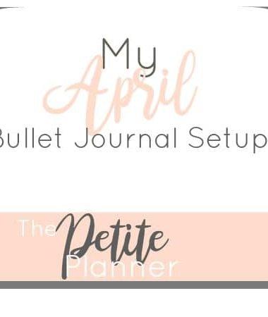 My April Setup in my Bullet Journal