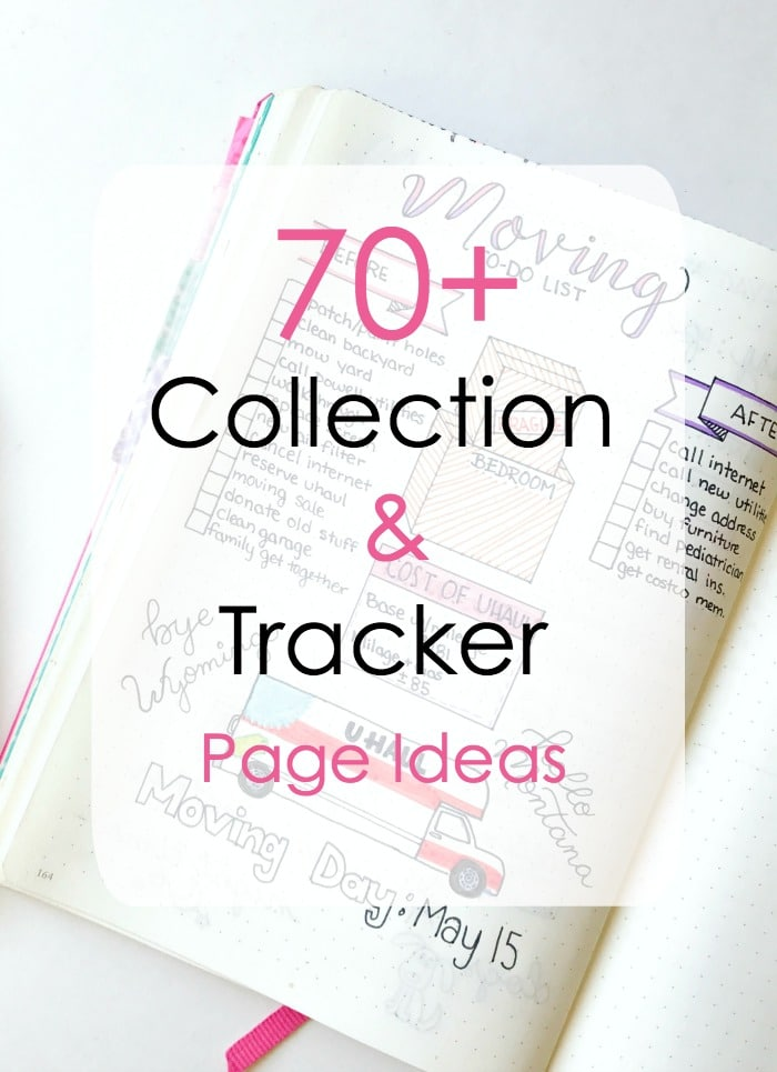 70+ Collection and Tracker ideas for your bullet journal