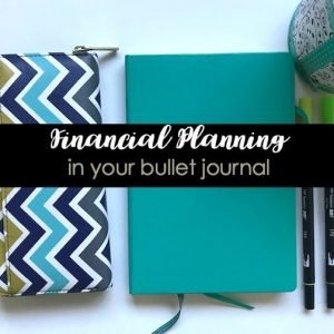 Financial Planning in your bullet journal