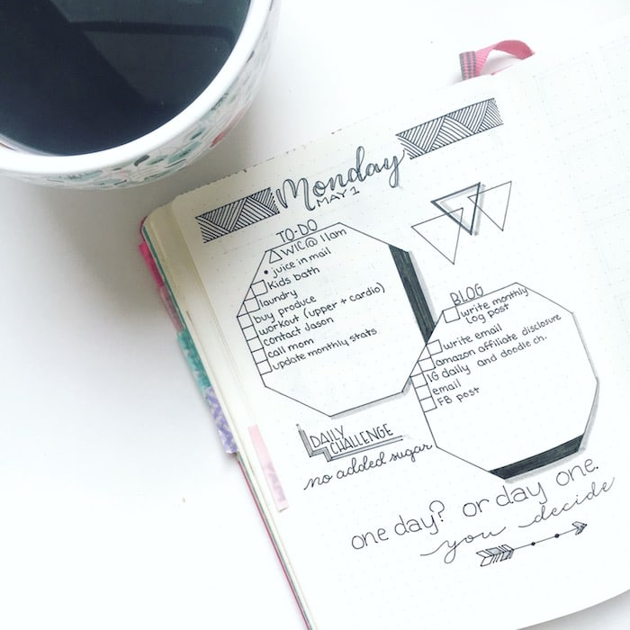Daily Log in my bullet journal