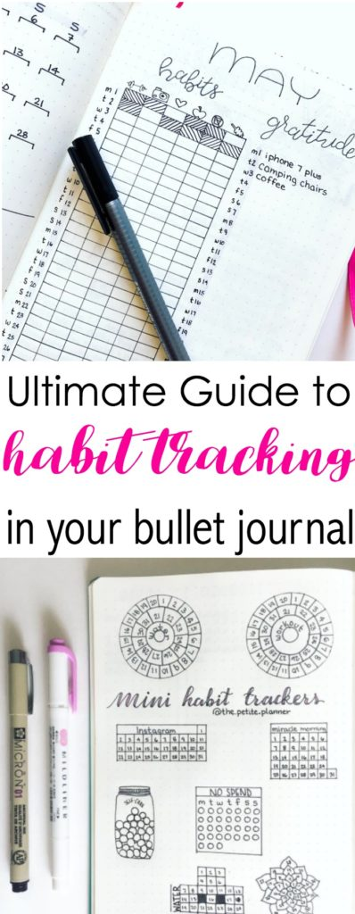 bullet journal 2 0 habit trackers the petite planner