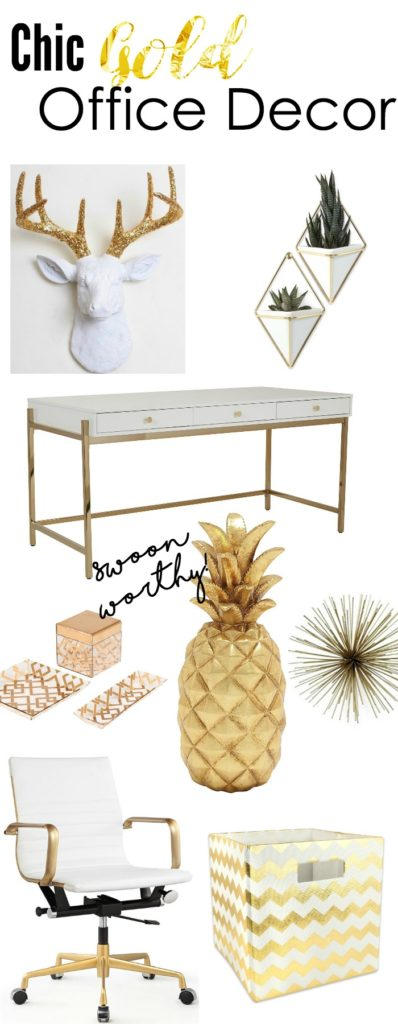 Chic Office Decor chic gold office decor to inspire creativity - the petite planner