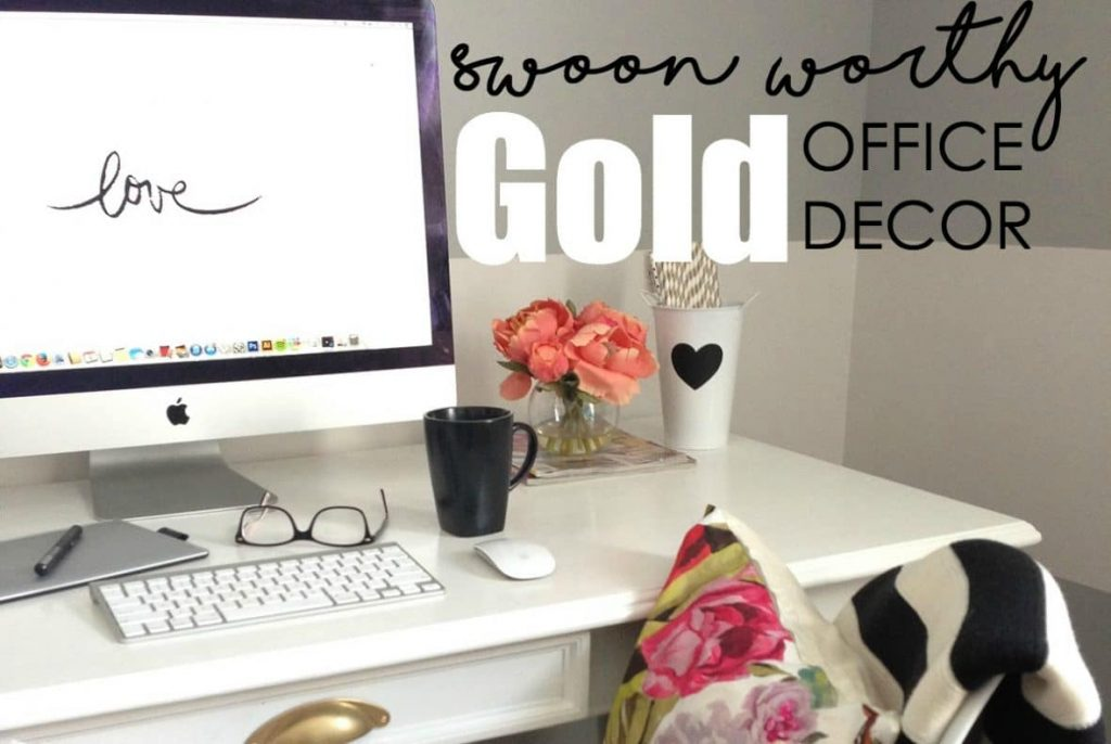 Chic gold office decor that will inspire creativity