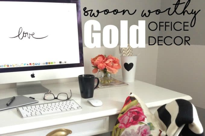 Chic Gold Office Decor to Inspire Creativity