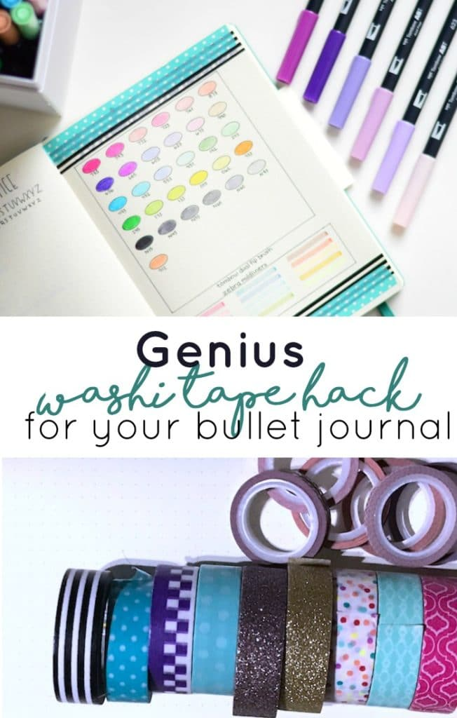 You have to try this washi tape hack in your bullet journal. It saves time, tape, and stress.