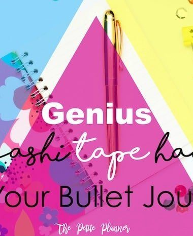 The one genius washi tape hack you must know to better you bullet journal