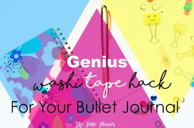 Genius Washi Tape Hack for Your Bullet Journal