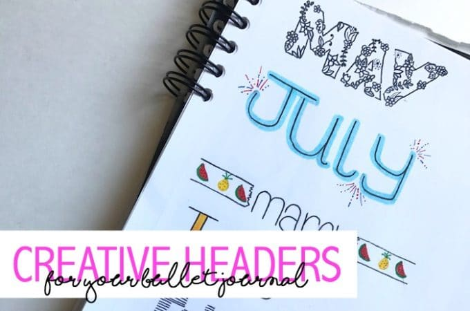 14 Creative Headers for You Bullet Journal
