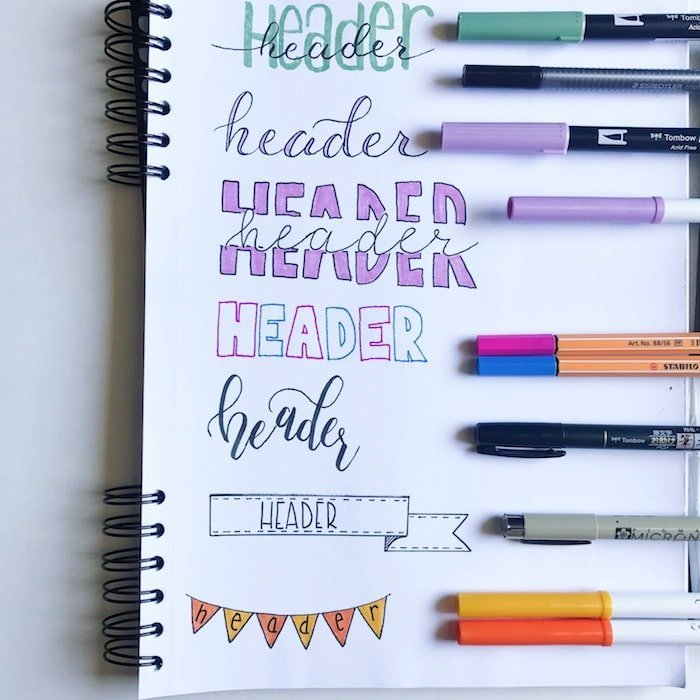 Fun And Creative Headers To Add Decoration Your Bullet Journal