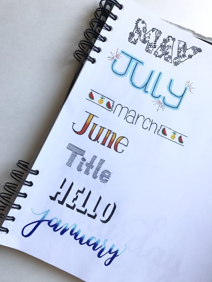 Creative headers for you bullet journal the petite