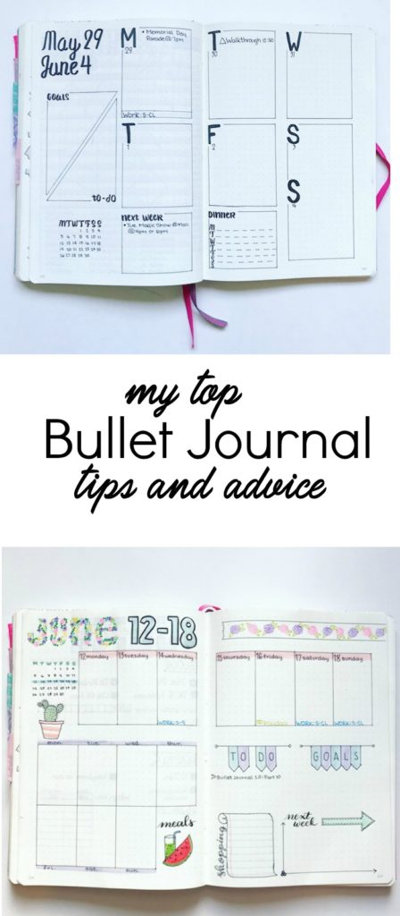 My top bullet journal tips and advice