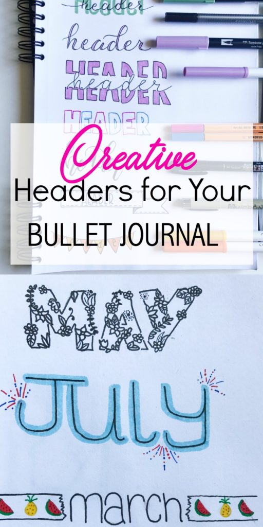 14 Creative Headers For You Bullet Journal The Petite