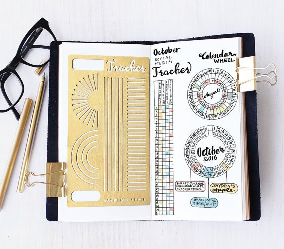 Habit Tracker Stencil for your bullet journal