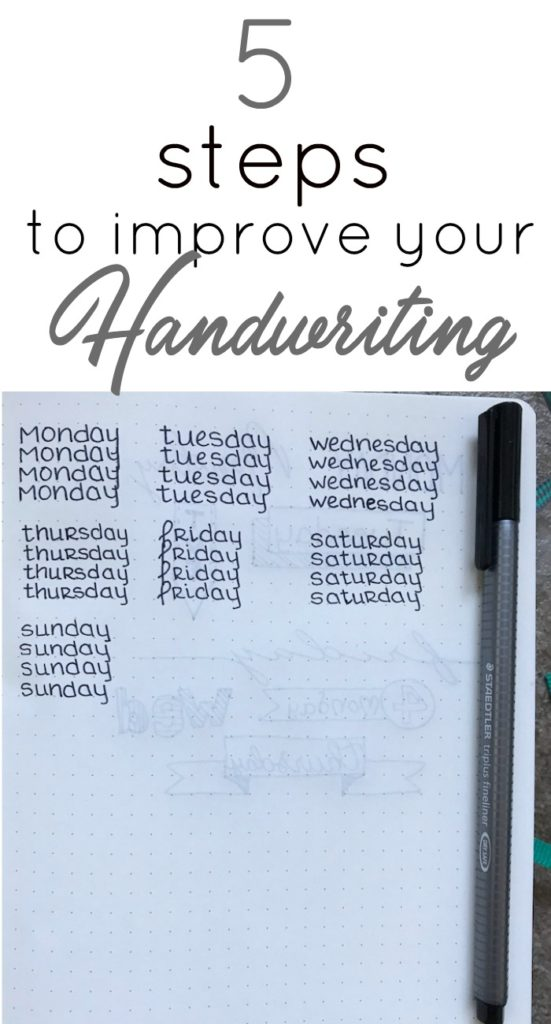 5 Steps To Improve Your Handwriting The Petite Planner