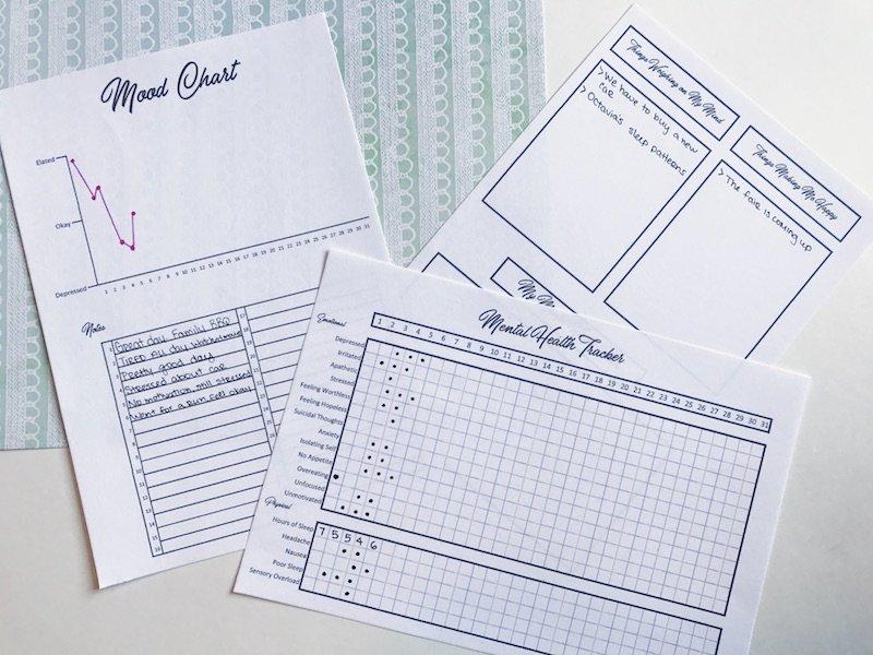 Printable Mental Health Tracker for Your Bullet Journal