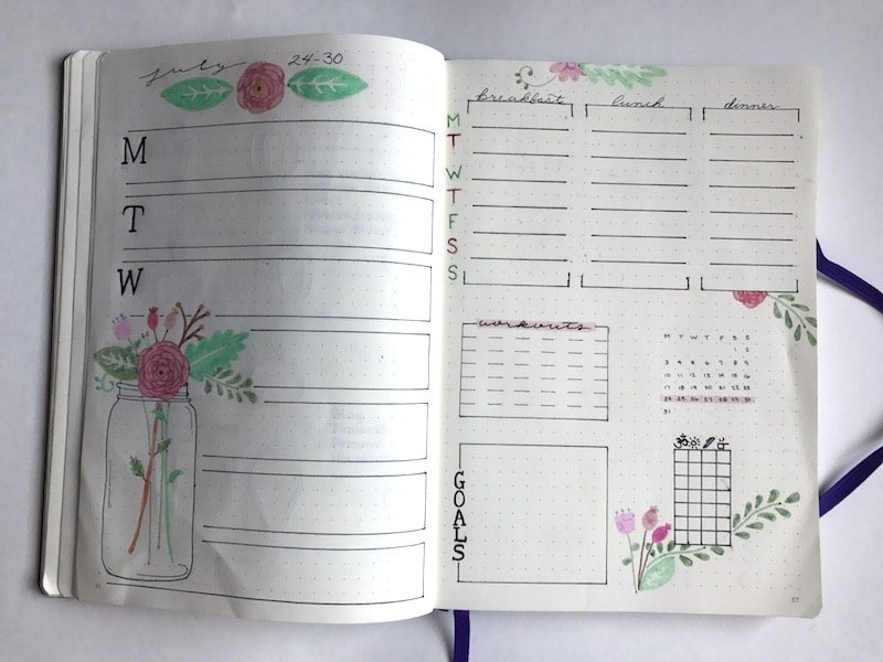 Comparing my first bullet journal to my current bullet journal