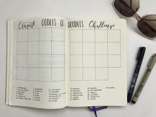 Join the August Oodles of Doodles Challenge