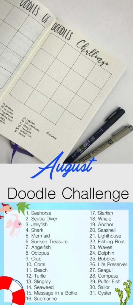 Join the August Oodles of Doodles challenge with this fun 'At Sea' theme