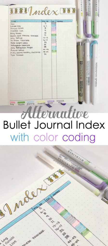 Replace the stock bullet journal index with a custom, more efficient index