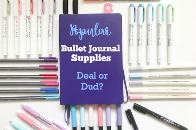 Deal or Dud: Popular Bullet Journal Supplies