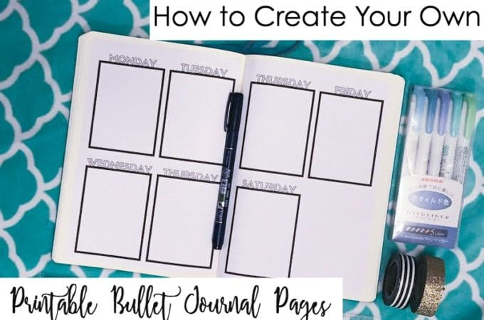 How to Make Your Own Printable Bullet Journal Pages–No Excel Required