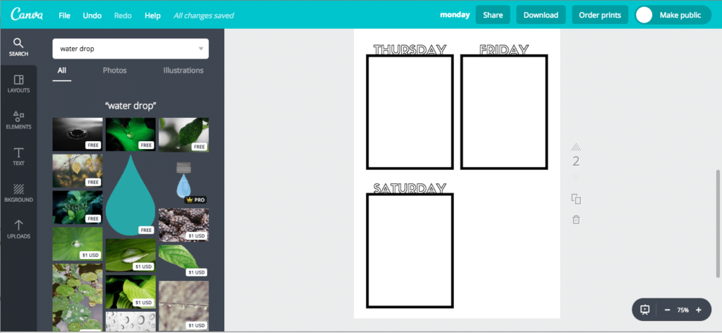Printable Bullet Journal Pages in Canva