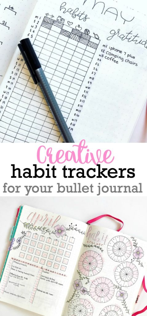 Creative Habit Trackers for your Bullet Journal