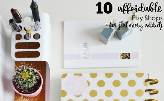 10 Affordable Etsy Shops for Stationery Addicts
