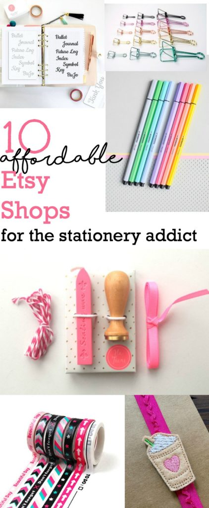 Check out these 10 Affordable Etsy Shops for the Stationery and Planner Addict