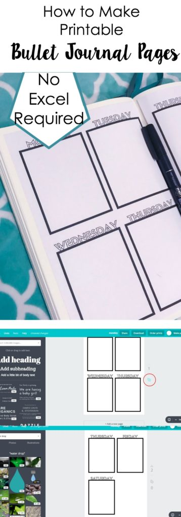 Learn how to make your own printable bullet journal pages in just a few simple steps.