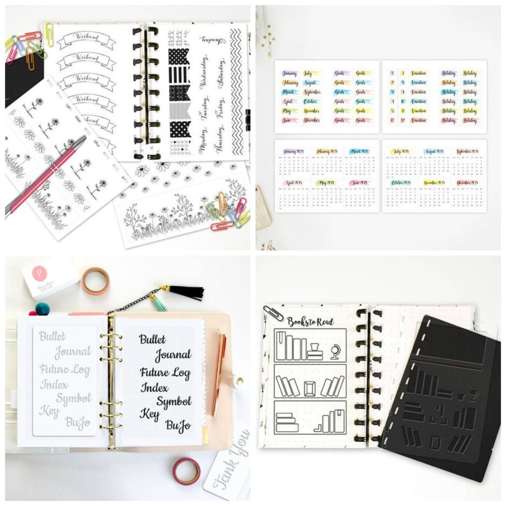 Stencils and Stickers for your bullet journal and planner